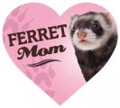 Ferret Mom - Car Magnet